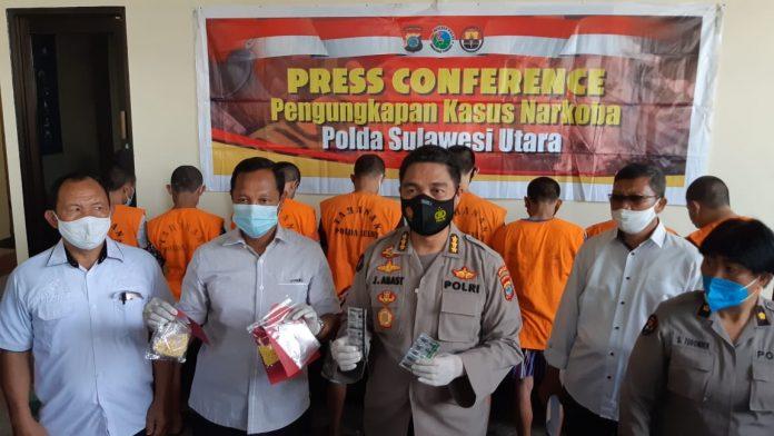Press Conferensi Polda Sulut Yang di Wakili Kombes Pol Jules Abraham Abast
